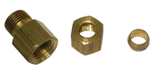 "Big A Service Line 3-166540 Brass Hex Reducer coupling 5/16"" x 1/4"""