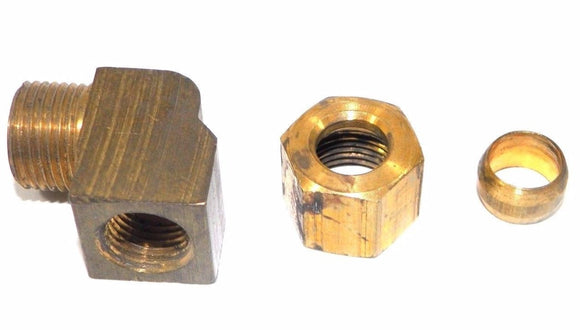 Big A Service Line 3-170520 Brass Pipe, 90 deg Street Elbow Fitting 5/16