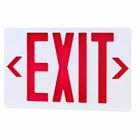 Royal Pacific RXL5RW Exit Sign Red Letters w/ White Housing 120/277V