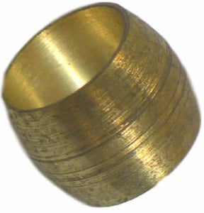 "Big A Service Line 3-66040 1/4"" Outside Diameter, Brass Compression Sleeve"