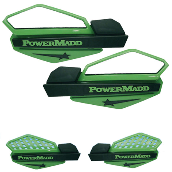Powermadd 34203 Star Handguard System - Green/Black