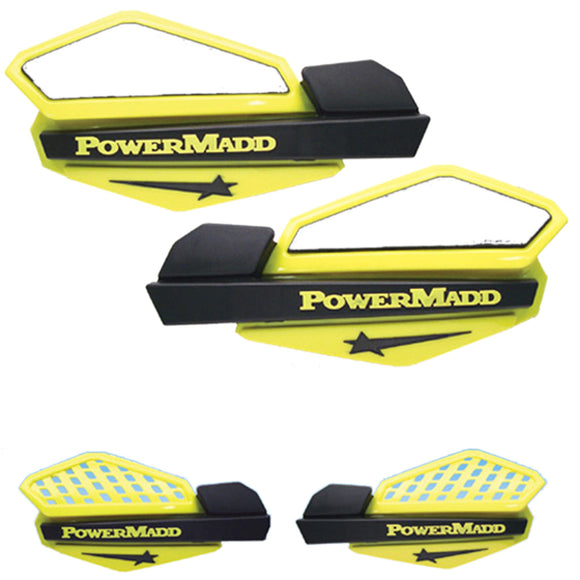 Powermadd 34206 Star Handguard System Fits Suzuki - Yellow/Black
