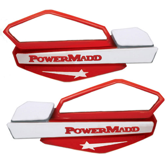 Powermadd 34222 Star Handguard System Fits Honda - Red/White