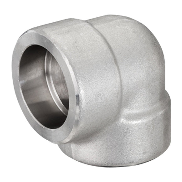 SCI S5036E 1″ 316L Stainless Steel 3000# Forged Socket Weld 90° Elbow F316/F316L