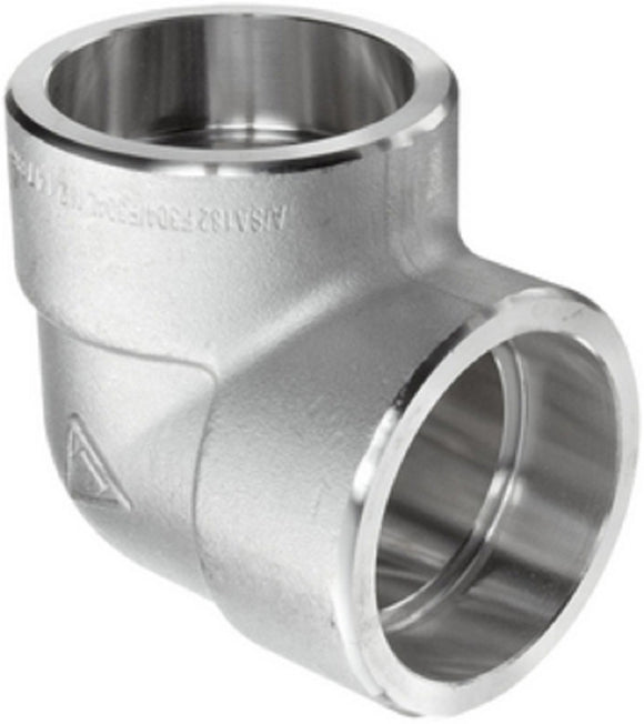 SCI S5034E 1″ 304L Stainless Steel 3000# Forged Socket Weld 90° Elbow F304/F304L
