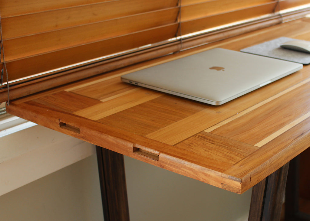 Office desk, made from an old closet door