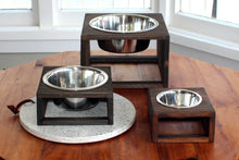 Load image into Gallery viewer, Reclaimed wood pet feeder
