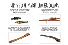 Load image into Gallery viewer, Handcrafted Leather Collar in Lapis