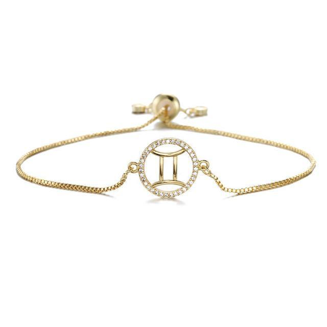 Stylish Diamond Circle Zodiac Bracelet