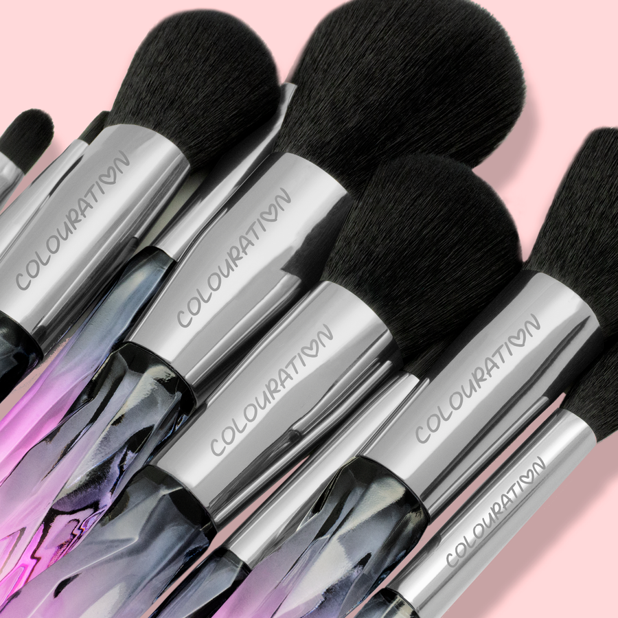 Amethyst Crystal Brush Set
