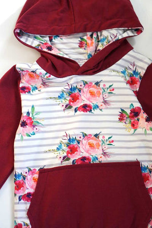 Load image into Gallery viewer, Floral Hoodie Set
