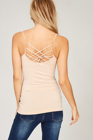 Load image into Gallery viewer, Seamless Criss Cross Back Cami