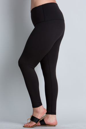 Load image into Gallery viewer, Curvy Full Length Butter Leggings - Black