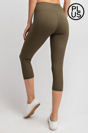 Curvy Capri Butter Leggings - Olive