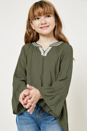 Load image into Gallery viewer, Girls Bell Sleeve Tunic