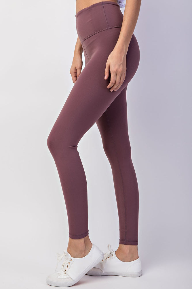 Load image into Gallery viewer, Full Length Butter Leggings - Dark Mauve