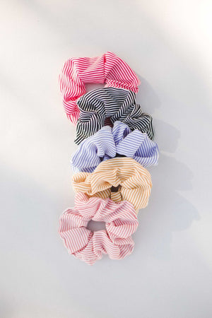 Load image into Gallery viewer, Skinny Stripe Scrunchie