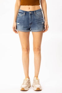 Kancan Denim Shorts - Light Wash