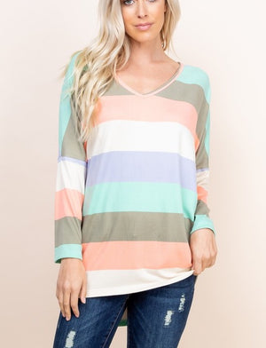 Curvy Spring Stripe Sweater