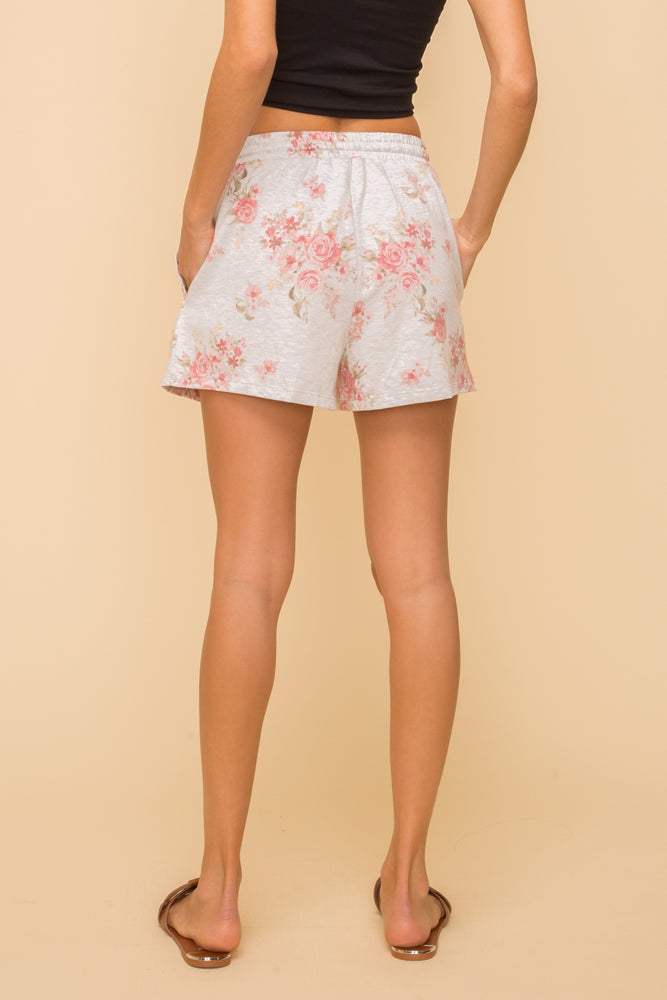 Hem & Thread Floral Terry Shorts