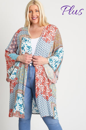 Load image into Gallery viewer, Ethnic Print Kimono