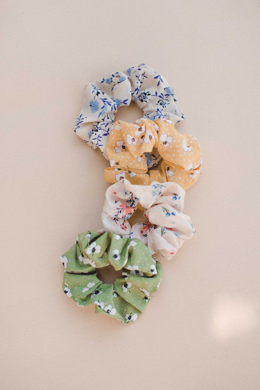 Floral hair scrunchie