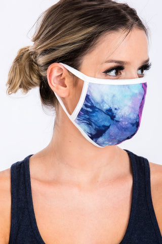 Purple Navy Face Mask