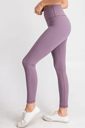 Yoga Waist Leggings - Frosted Mulberry