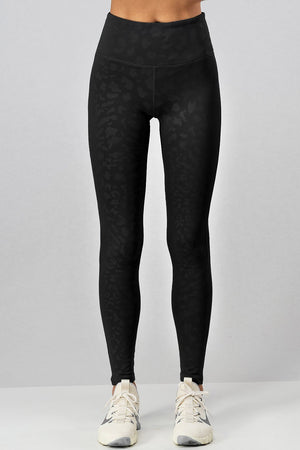 Black Leopard Legging