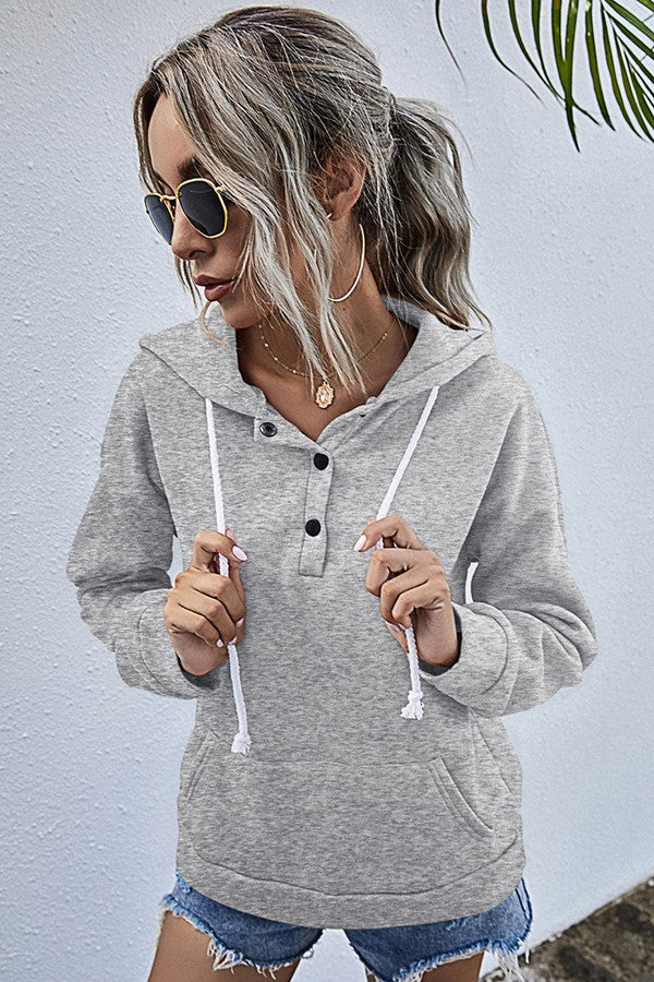 Relaxed Drawstring Hoodie