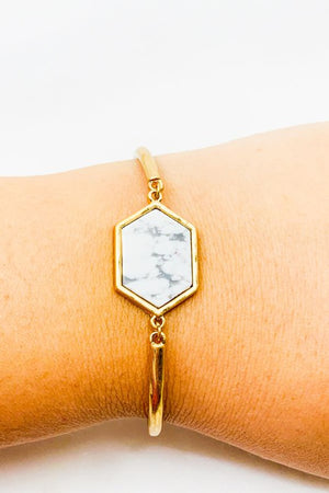 Load image into Gallery viewer, Hexagon Stone Bracelet