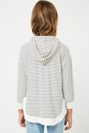 Girls Ribbed Stripe Hoodie