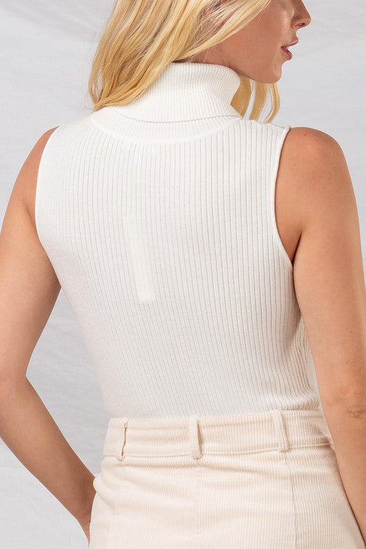 Ribbed Sleeveless Sweater