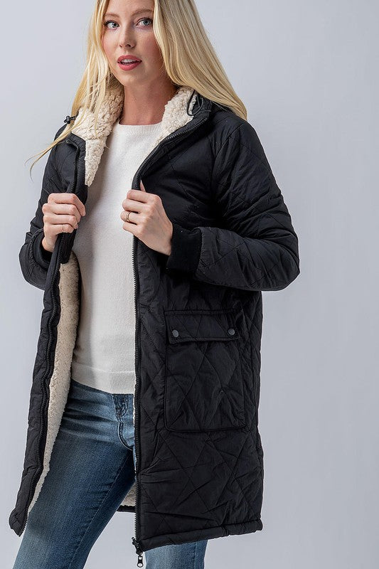 Long Sherpa Reversible Jacket