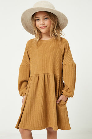 Girls Ribbed Knit Raglan Tunic