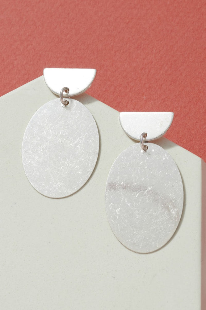 Round Metal Drop Earring