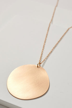 Load image into Gallery viewer, Metal Disc Pendant Long Necklace