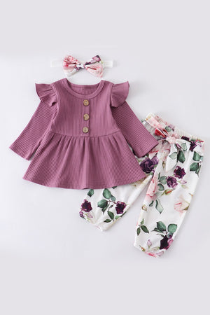 Baby Floral Ruffle Set