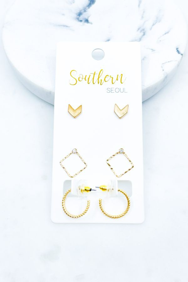 Chevron Trio Earring Set