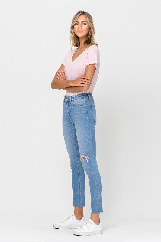 Clean Cut High Rise Crop Skinny