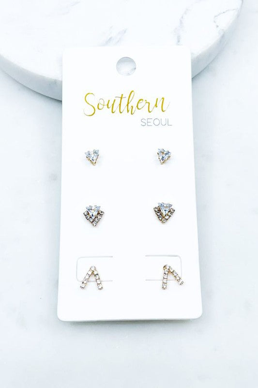 Earring Trio Set