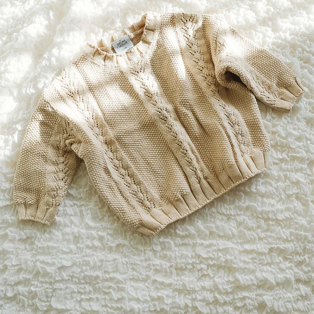 Load image into Gallery viewer, Baby/Toddler Oversized Knit Sweater