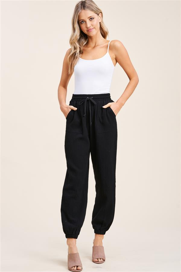 Black Gauze Pants