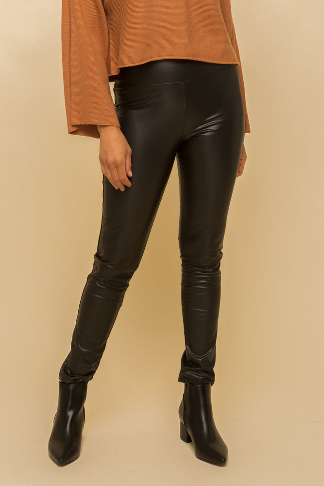 Fleece Lined Leather Leggings