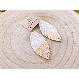Cecelia Designs Painted Leather Earring - Champagne