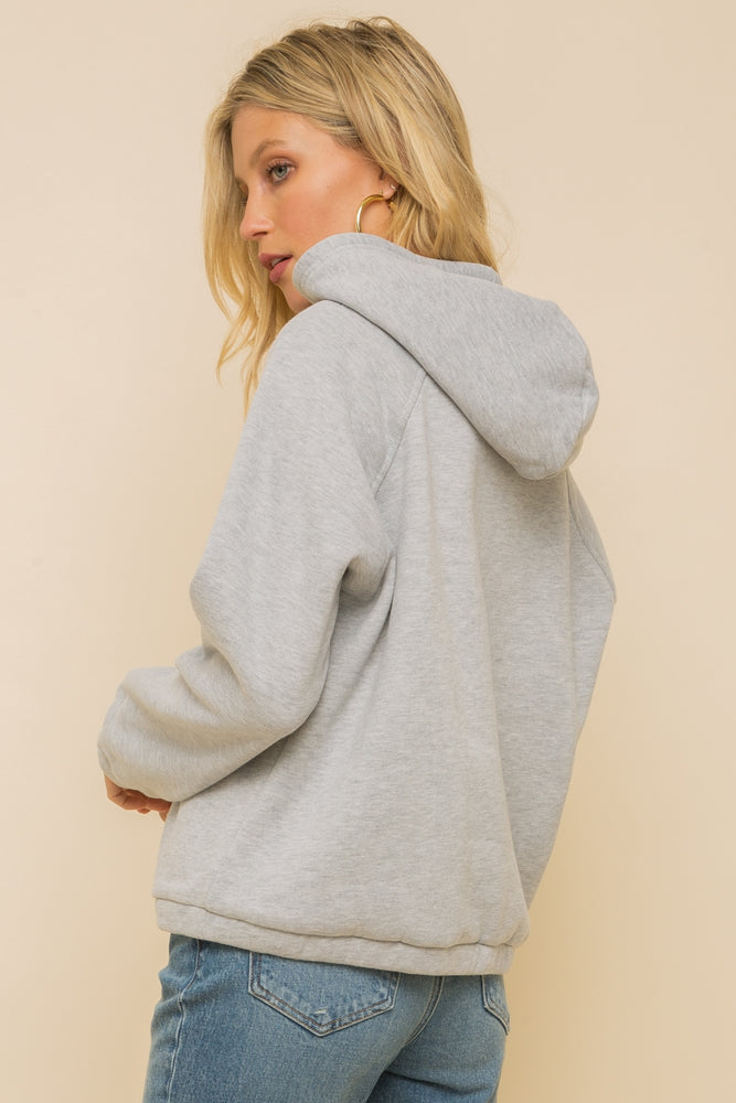 Hem & Thread Fleece Lined Hoodie