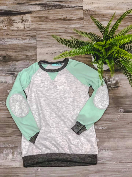 Girls Mint Kangaroo Sweatshirt