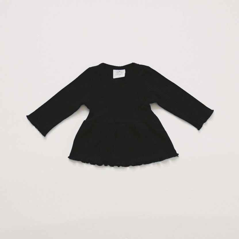 Baby/Toddler Ribbed Peplum Tee