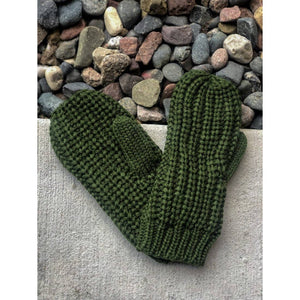 Olive Knit Mittens