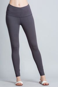 Yoga Waist Leggings - Charcoal